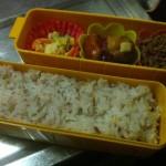 最近、弁当箱の大きさの違いからか、弁当の中身が微妙に違う。 - 2011/09/07
